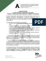 CONVOCATORIA EDUCACION CONDUCTUAL ENE. 2020