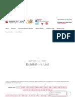 Exhibitors List – Elecrama