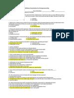 Midterm Examination for ENTREPRESHIP