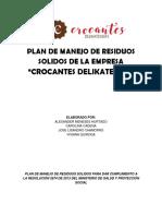 PLAN DE MANEJO DE RESIDUOS SOLIDOS