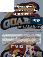 Jorge Hernández Fernández - FVB Espera Que en Febrero Arranque La LPB 2020