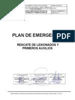 PLE-SGI-04 PLAN DE EMERGENCIA RESCATE DE LESIONADOS Y PRIMEROS AUXILIOS V1