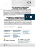 Adubação mineral em idade produtiva de palma-de-óleo