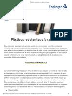 Plásticos resistentes a la radiación _ Ensinger