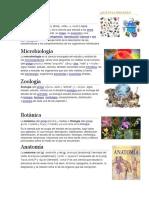 Biología Microbiologia y Zoologia Botanica