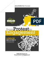 """Mufti Ali Gomaa on """"From Protest to Engagement"""""""