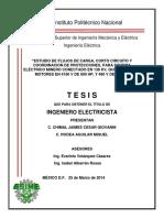 ESTUDIO DE FLUJOS DE CARGA CORTO CIRCUITO Y COORDINACION DE PROTECCIONES PARA SISTEMA ELECTRICO MINERO CONECTADO EN 138 KV QUE ENERGIZA A MOTORES DE 4160 V DE 900 HP Y .pdf