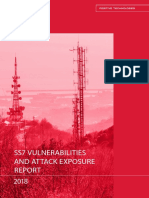 GSMA-SS7 Vulnerability and Attack Exposure Report 2018