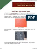 Sand Casting Defects - Sand Mold, Metal Casting AAAAAA