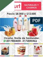 YOGURT CASERO PROFESORA DANELIA