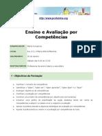 """Acção de Formação """"Ensino e Avaliação Por Competências"""" (2011)"""