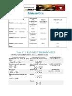 MATEMATICA TEMA 1 CLASE 1