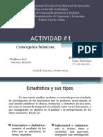 Estadística. Conceptos Básicos