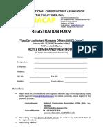 Registration Form AMO Seminar    January 16&17, 2020