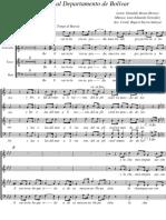 Himno del Departamento de Bolívar, Colombia