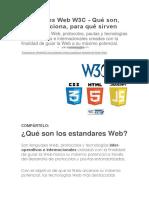 Estándares Web W3C