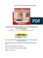 Baixar Especialista Em Vendas Online 2020 – João Castanheira Download Google Drive