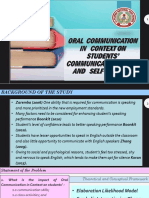 Oral Communication in Context on Students' FINAL DEFENSE