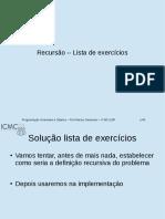Recursão Exercícios Resolvidos I