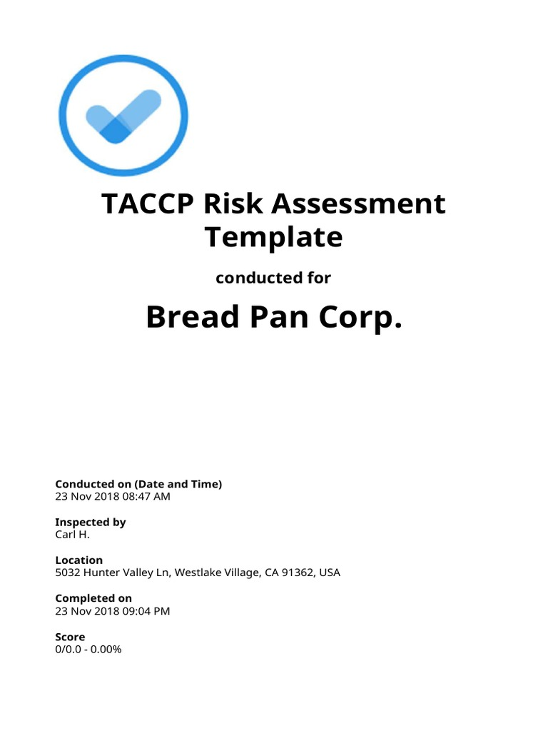 TACCP-Risk-Assessment-Template-sample-report