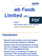 Introduction to Haleeb Foods PVT Ltd