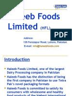 Introduction to Haleeb Foods PVT Ltd