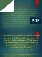 IDEA RECTORA Y TOMA DE PARTIDO