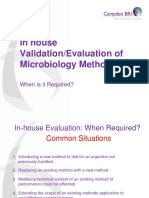 Additional Information on Microbiology Guidance on Demonstrating Suitabilty of Microbiology Methods