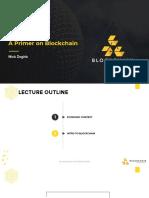 Lecture 01 A Primer on Blockchain