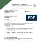 Informe de caracterización cualitativa de lípidos.