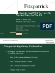 Fitzpatrick - Exclusivity and FDA Barriers to Market Entry in the US