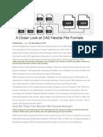A Closer Look at CAD Neutral File Formats