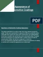 Apperance of  Coatings