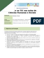 """Acção de Formação """" Integrar as TIC nas aulas de Ciências Humanas e Sociais"""""""