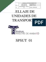 4 Procedimiento de Sellaje de Unidades de Transporte