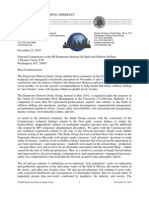 Letter from Deepwater Horizon Study Group to Oil Spill Commission