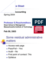 Lecture2 - Balance Sheet and the Recording of Transactions