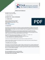 FICHA DE DATOS DE SEGURIDAD DE MATERIALES-BENTONITA