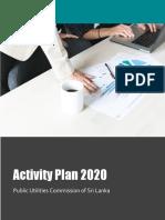 Activity Plan 2020 PUCSL