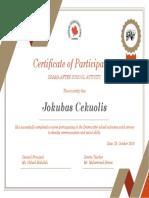 Certificate- jack