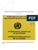 Yellow Fever Vaccination Requirements from India - Chalo Africa