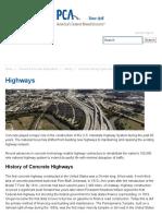 Highways Concrete Highways