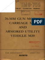 TM 9-755 76-mm Gun Motor Carriage M18 and Armored Utility Vehicle M39 1945