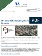 MIT Concrete Sustainability Hub Pavement Research