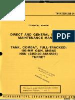 TM 9-2350-258-34-1 Tank, Combat, Full Tracked 105-mm Gun M48A5 Turret 1978
