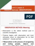 4A -Observation Method