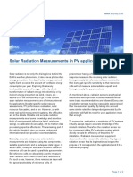 Solar Radiation Measurements in PV applications