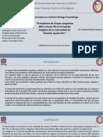 """""""Prevalencia de Grupo sanguíneo ABO y Factor Rh en la familia Delgado de la comunidad de Tomatal, Iguala Gro."""""""
