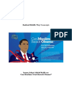 "Imam Johari Abdul Malik on ""Can Muslims Trust Barack Obama?"""