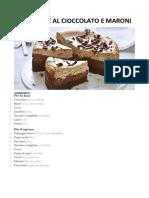 CHEESE CAKE AL CIOCCOLATO E MARONI